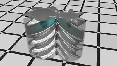 Interlocking air compressor rotors