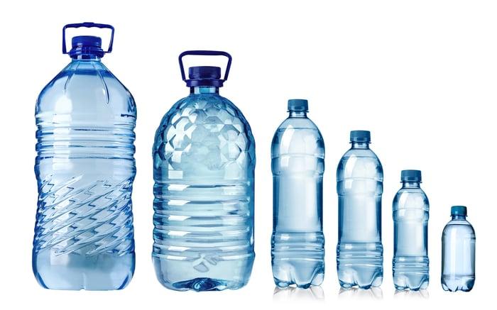 Plastic moulded water bottles