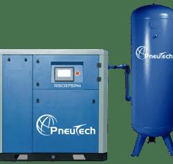 PneuTech air compressor with air receiver tank