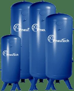 PneuTech air receivers in various sizes