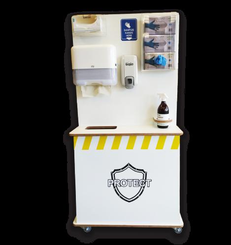 PPE sanitise station